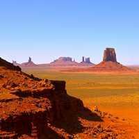 乾燥した砂漠